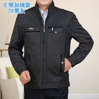 新款男装中年男士加厚加绒夹克衫秋冬装中老年人休闲爸爸外套qg