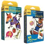 正版现货 英文版英文原版 First Words/Alphabet 54张英语单词字卡片2盒装 Golden Book