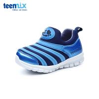 百丽天美意teenmix童鞋18新款毛毛虫儿童鞋织布内里四季儿童运动鞋男童户外休闲鞋 (5-10岁可选) DX0288