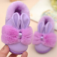 可爱儿童皮棉拖鞋亲子男女童宝宝小孩包跟防水滑室内家居拖鞋冬季
