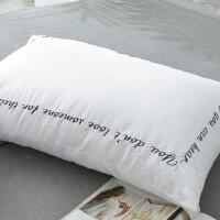 纯棉贡缎立体枕芯酒店用记忆枕学生单人全棉白色枕头床上用品 情人耳语