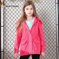 【3件3折:116.4元】暇步士童装春季新款女童连帽防风时尚风衣儿童外套