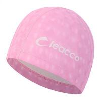 泳帽女士 长发防水PU游泳帽 3D舒适男女通用泳帽 一件