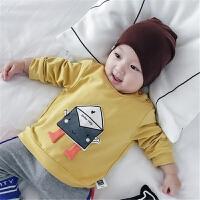 婴儿秋装男女宝宝衣服新生儿外出百搭纯棉上衣小房子幼儿卫衣