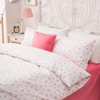 纯棉床上三件套单人床 少女心1.8m全棉网红床单被套公主风四件套上新