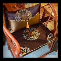 沙发坐垫实木中式家具座垫官帽圈椅海绵棕垫定做套装 /
