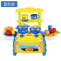 儿童拼装过家家仿真厨房具男女孩煮做饭玩具套装模拟炒菜做饭