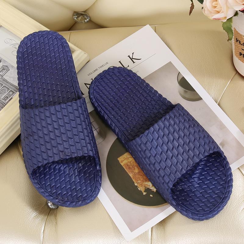 浴室拖鞋夏季韩版家居家防滑厚底男女情侣室内洗澡塑料漏水凉拖鞋