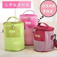 20200111115348494大号苏泊尔加厚三层圆形饭盒袋子便当包防水保温袋圆桶手提便当袋