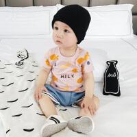 婴儿打底衫男女小童外穿小鱼纯棉上衣新生儿衣服 宝宝T恤夏季