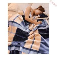 加厚盖毯冬季珊瑚绒毯子法兰绒毛毯盖毯单人双人双层保暖毯子