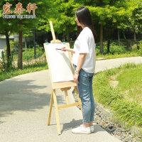 木制画架画板套装多功能折叠支架式水粉素描架子学生油画架画板架初学者美术用品工具批发