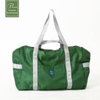 折�B旅行包 女容量行李袋�p便防水套拉�U男�渭缡痔� 短途旅行包 深�G �