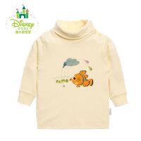 【129元3件】迪士尼Disney 男女宝宝春秋素色高领肩开扣上衣153S678