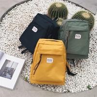 男书包时尚潮流韩版双肩包男学生电脑包日韩男士帆布休闲旅行背包