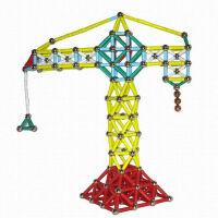 磁力棒蓝炫拼装玩具 磁性积木玩具 件桶装 颜色随机发货