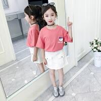 中大童女童套装裙子夏款2019新款夏装韩版时髦网红夏季套裙