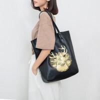 包包女2019新款真皮单肩包大包头层牛皮大容量包女百搭手提包