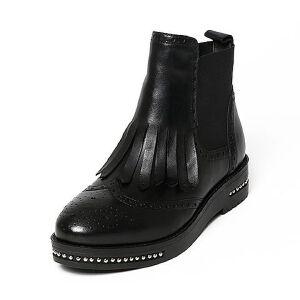 Belle/百丽冬季专柜同款油皮牛皮女短靴BKM42DD6