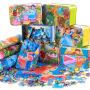 【满199减100】儿童铁盒200片木质拼图拼板拼插玩具3-6岁以上男孩女孩生日礼品早教益智礼物