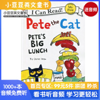 英文绘本 原版进口ete the Cat: Pete's Big Lunch I Can Read