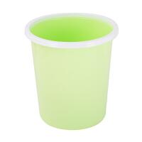 三利卫生间杂物垃圾筒酒店办公室家用带压圈环无盖彩色垃圾桶 白圈绿桶