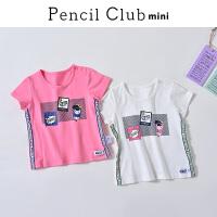【3件2折:19.8】铅笔俱乐部童装2020夏装新款女童圆领短袖小童宝宝上衣儿童T恤