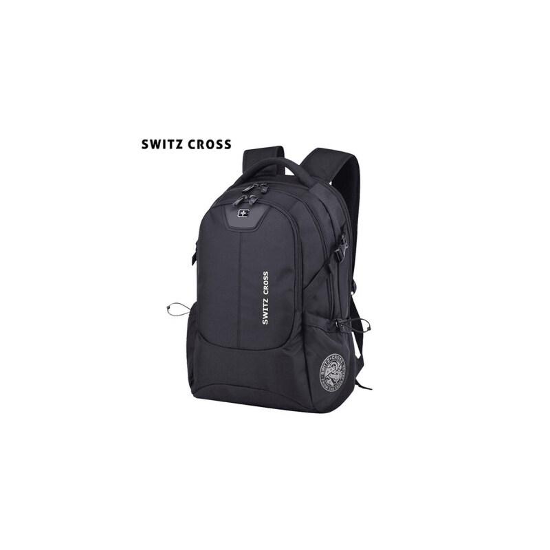 瑞士双肩包男士时尚潮流高中生书包男休闲商务旅行大容量电脑背包