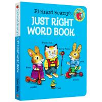 英文原版绘本 Richard Scarry's Just Right Word Book 斯凯瑞恰到好处的单词书 英文