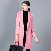 毛呢外套女中长款韩版2018新款韩国冬季黑色显瘦呢子赫本妮子大衣