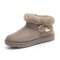 雪地靴女2018新款韩版加绒保暖短筒靴子女防滑网红短靴冬季棉鞋女