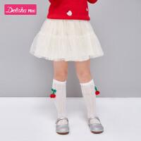 【4件2折价:61】笛莎女童半身裙2020春季新款儿童时尚洋气裙子小女孩甜美网纱短裙