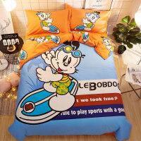 卡通床上用品四件套儿童可爱床品床单被套三件套男孩女孩
