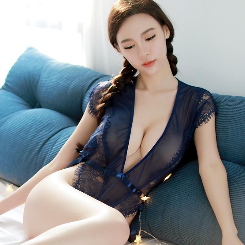 情趣内衣性感薄纱睡裙吊带大码情趣套装sm透视装深V激情制服女