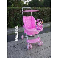 竹藤婴儿藤椅推车超轻便携式可坐简便儿童推车折叠宝宝冬夏两用
