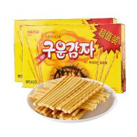 韩国进口零食 海太烤薯条烤薯棒162g*2碳烤土豆条零食膨化食品