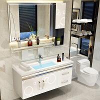 不锈钢浴室柜组合卫浴卫生间洗脸盆洗手池简约现代挂墙式洗漱台盆 m6y