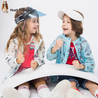 【3折价:98.7元】暇步士童装男童外套新款春秋装防晒服大童女儿童皮肤衣薄夹克