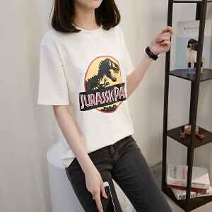 圆领短袖T恤女装2018新款春夏装韩版打底衫宽松体恤衫小心机上衣
