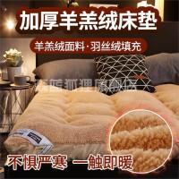 加厚羊羔绒床垫软垫被家用床褥子榻榻米垫子租房专用学生宿舍单人