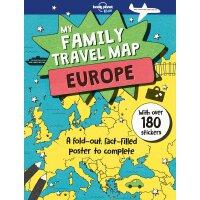 英文原版 孤独星球 我的家庭旅行大地图:欧洲 含大量旅途信息和贴纸 My Family Travel Map - Eu