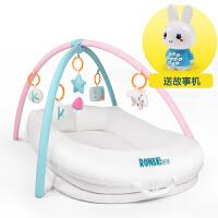 20180822174554045便携式婴儿床多功能新生儿床中床简易bb床垫美国仿生设计宝宝睡床