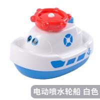 宝宝洗澡玩具婴儿儿童玩水喷水小船男女孩浴室戏水玩具小轮船 抖音