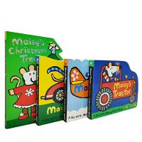 英文原版 Maisy's 小鼠波波 造型纸板书 4册合售 [0-5岁]