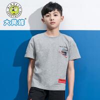 大黄蜂童装 男童短袖2019夏季新款小学生韩版洋气上衣儿童圆领T恤