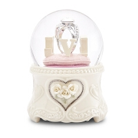 水晶球音乐盒八音盒结婚新婚女生女友Love钻戒生日礼物台湾 LOVE钻戒(顺丰)