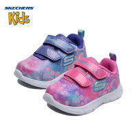 【限时抢:79元】斯凯奇童鞋 (SKECHERS)女童鞋 幻彩休闲鞋 轻便运动鞋女 SK82187NA(1岁―4岁)