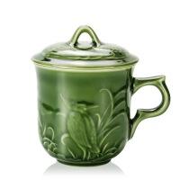 乾唐轩活瓷杯雕花高杯310ml咖啡杯水杯茶杯杯子礼盒商务礼品