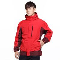 【特价89元】AIRTEX亚特男士两件套冲锋衣秋冬户外三合一登山防风保暖外套大码