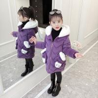 №【2019新款】冬天儿童穿的女童小女孩冬装洋气棉衣外套儿童中长款加厚羽绒棉袄